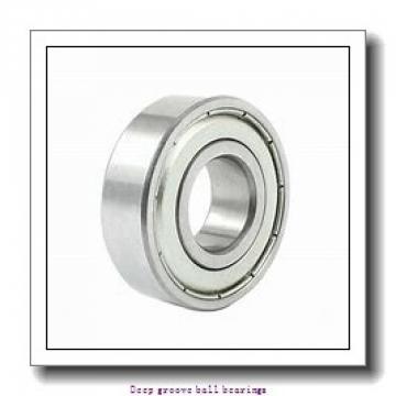 9.525 mm x 22.225 mm x 7.142 mm  skf D/W R6 R-2RZ Deep groove ball bearings