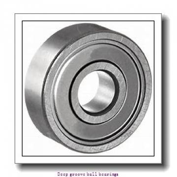 4 mm x 13 mm x 5 mm  skf W 624 Deep groove ball bearings