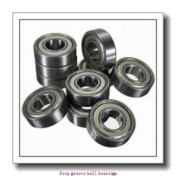 4 mm x 16 mm x 5 mm  skf W 634 Deep groove ball bearings