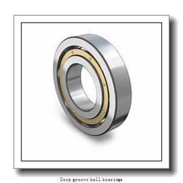 5 mm x 16 mm x 5 mm  skf W 625 Deep groove ball bearings