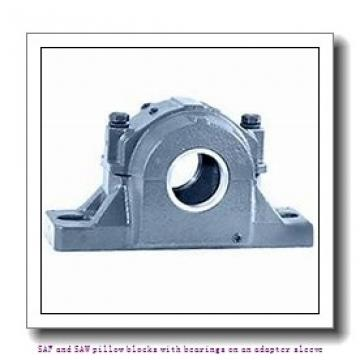 skf SAF 22526 x 4.5/16 SAF and SAW pillow blocks with bearings on an adapter sleeve