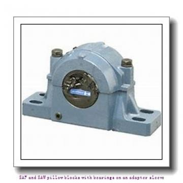 4.188 Inch | 106.375 Millimeter x 7.375 Inch | 187.325 Millimeter x 5.25 Inch | 133.35 Millimeter  skf SAFS 22524 SAF and SAW pillow blocks with bearings on an adapter sleeve