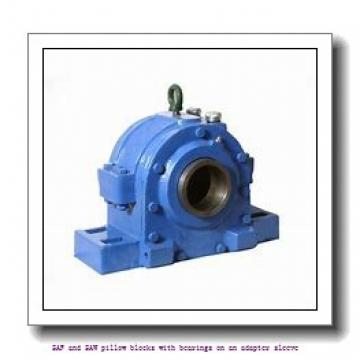 skf SSAFS 23024 KATLC x 4.1/4 SAF and SAW pillow blocks with bearings on an adapter sleeve