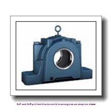 skf SAF 22515 x 2.3/8 T SAF and SAW pillow blocks with bearings on an adapter sleeve