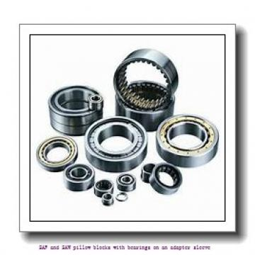 2.438 Inch | 61.925 Millimeter x 4.688 Inch | 119.075 Millimeter x 3.25 Inch | 82.55 Millimeter  skf SAF 22515 SAF and SAW pillow blocks with bearings on an adapter sleeve