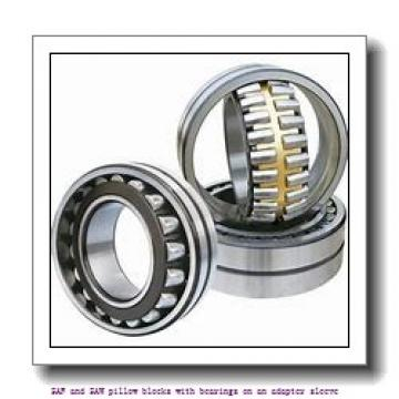 skf SSAFS 22640 x 7.1/4 SAF and SAW pillow blocks with bearings on an adapter sleeve