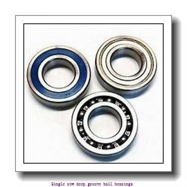 40 mm x 68 mm x 15 mm  NTN 6008LLU/LP03 Single row deep groove ball bearings #1 image