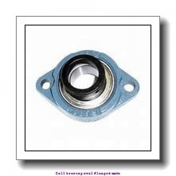 skf UCFL 207 Ball bearing oval flanged units #1 image
