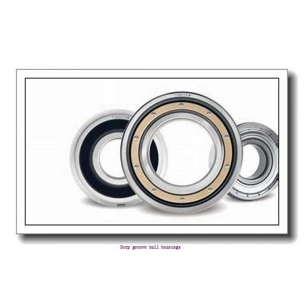 25 mm x 52 mm x 15 mm  skf 6205 Deep groove ball bearings #1 image