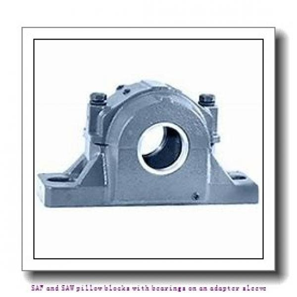skf SAF 23024 KA x 4.3/16 SAF and SAW pillow blocks with bearings on an adapter sleeve #1 image