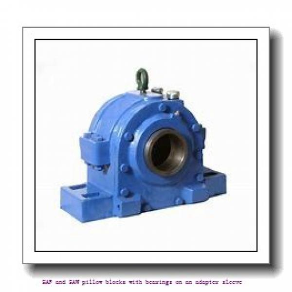 skf SAF 22620 x 3.3/8 SAF and SAW pillow blocks with bearings on an adapter sleeve #2 image