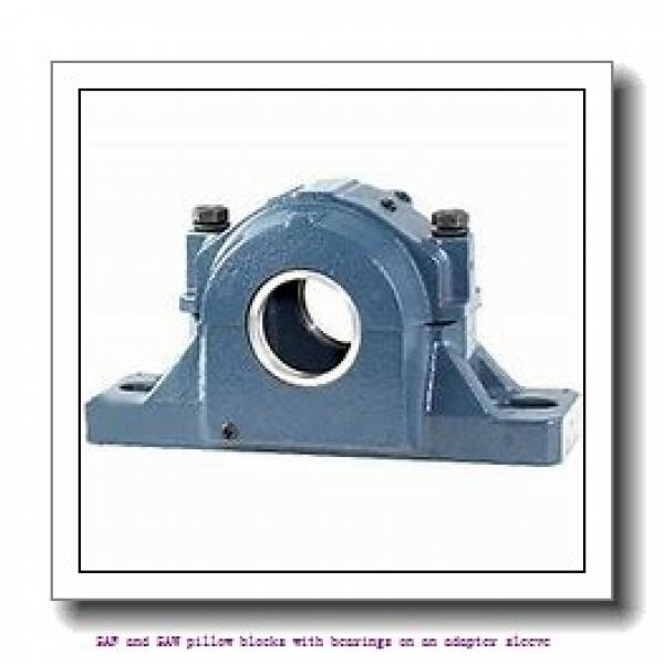 skf SAFS 23040 KAT x 7.3/16 SAF and SAW pillow blocks with bearings on an adapter sleeve #2 image