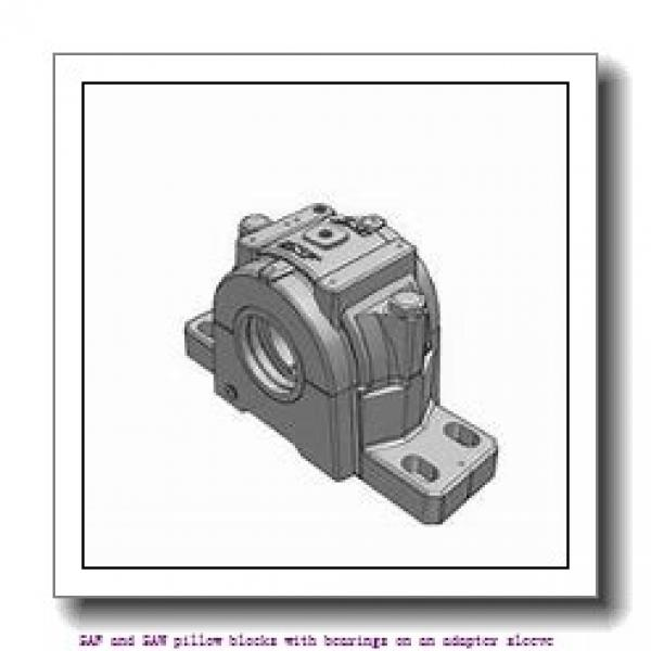 skf SAF 23030 KATLC x 5.3/16 SAF and SAW pillow blocks with bearings on an adapter sleeve #2 image