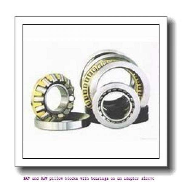 skf SAW 23528 x 5 SAF and SAW pillow blocks with bearings on an adapter sleeve #1 image